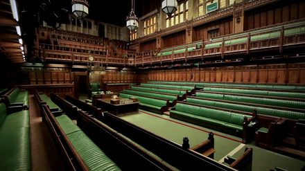 The debating chamber of the House of Commons. House of Commons Chamber 1.png