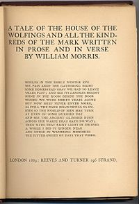 The House of the Wolfings cover