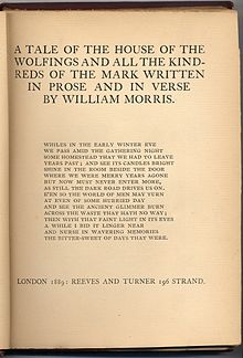 House of the Wolfings Title Page First Edition 1889.jpg