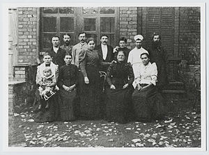 Household staff of the Hughes family, c.1890s