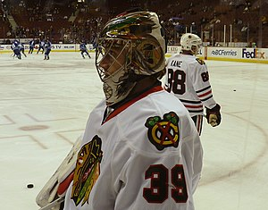 Cristobal Huet - Huet with the Blackhawks in 2009