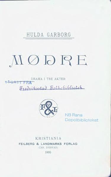 File:Hulda Garborg - Mødre.djvu