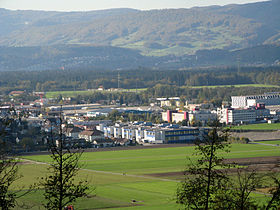 Hunzenschwil, vom Staufberg aus gesehen