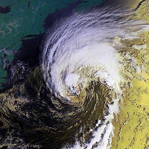 Hurricane Gabrielle (2001) - Image: Hurricane Gabrielle 17 sept 2001 1213Z