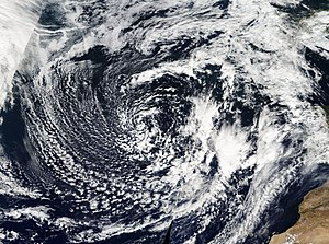 Hurricane Rafael - Hurricane Rafael's extratropical remnant on October 22, approaching Portugal.