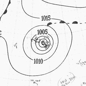 1940 Atlantic hurricane season - Image: Hurricane Seven analysis 24 Sep 1940
