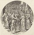 Huwelijk van Simson met de Filistijnse vrouw Geschiedenis van Simson (serietitel), RP-P-OB-5931.jpg