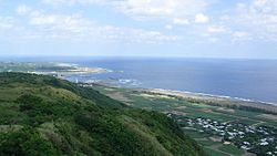 A view of Kikai Island from Hyakunodai hill