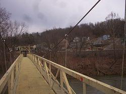 A portion of the borough as seen from the pedestrian bridge.