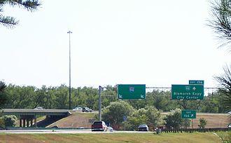 Bismarck Expressway - Eastbound I-94 exit 156 to Bismarck Expressway