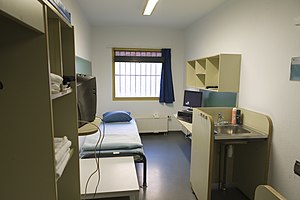 International Criminal Tribunal for the former Yugoslavia - Image: ICTY Detention Unit cell