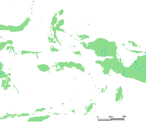 Asia Islands - Asia Islands (red) north of Bird's Head of New Guinea. (zoom to view)