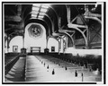 INTERIOR, SHOWING PEWS AND ALTAR - First Unitarian Church, 2121 Chestnut Street, Philadelphia, Philadelphia County, PA HABS PA,51-PHILA,296-4.tif