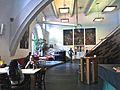 IX.Blick in die Marstall-Mensa, im ältesten mittelalterlichen Gebäude Heidelbergs, auf ihre Innenausstattung und Architektur 1398.JPG