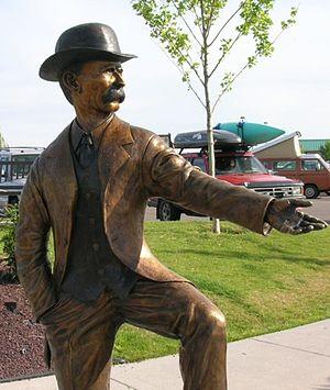 I. B. Perrine - Statue of Perrine in Twin Falls, Idaho