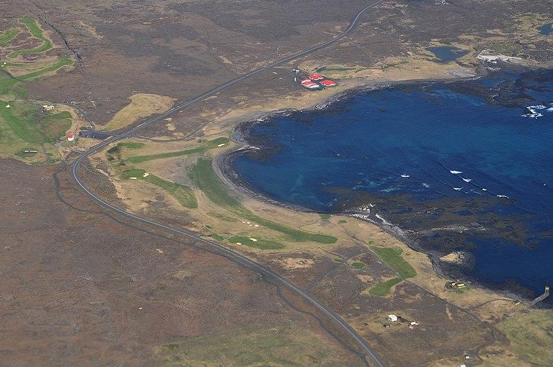 Iceland (2), Grindav%C3%ADk, golf course.JPG