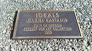Ideals (sculpture) - Plaque for the sculpture