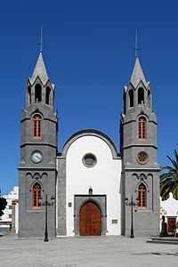 Church Iglesia de San Juan Bautista (Church of St. John the Baptist) in Telde, Gran Canaria.