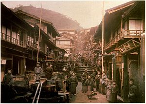 Ikaho, Gunma - Ikaho Onsen Ishidangai around 1890
