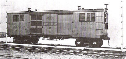 Illinois Central Railroad #14713, a ventilated fruit car dating from 1893 Illinois Central Railroad 14713.jpg