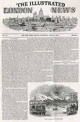The Illustrated London News - Image: Illustrated London News front page first edition
