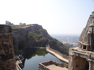 Photo of a reservoir inside Chittorgarh Fort, ...