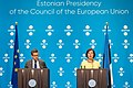 Informal meeting of ministers responsible for competitiveness (research, iCOMPET). Press conference Carlos Moedas and Mailis Reps (35349993833).jpg