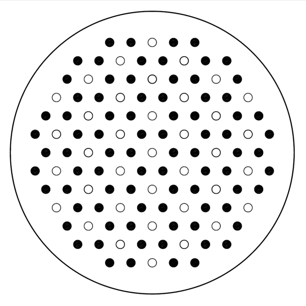 file injection hole pattern honeycomb type png