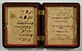 Inside of double union case by Peck & Co containing annotations with names (8487708708).jpg