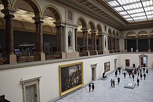 The main hall of the Royal Museums of Fine Arts of Belgium