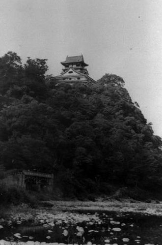 Inuyama Castle -  A view of the castle, taken in 1937