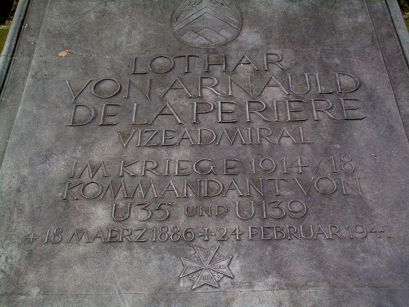File:Invalidenfriedhof, Grave Arnauld de la Periere, Grave slab.JPG