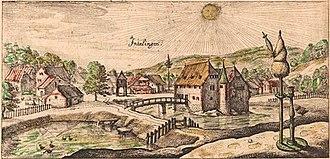 Inzlingen Castle - Image: Inzlingen Stich Meissner