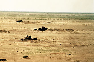 Battle of Norfolk - Task Force 1-41 Infantry destroyed multiple Iraqi tanks in defensive entrenchments.