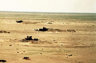Battle of Norfolk - Task Force 1-41 Infantry destroyed multiple Iraqi tanks in defensive entrenchments.