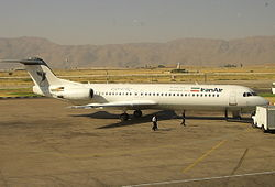 Iran Air Fokker 100 Shiraz International Airport. (2007)
