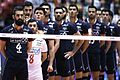 Iranian Volleyball player before a match against Poland national volleyball team.jpg