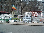 Haw's protest camp before it was largely dismantled by police in 2006