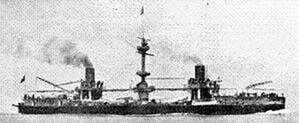 Italian ironclad Francesco Morosini - Image: Italian battleship Francesco Morosini (1885)