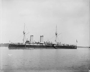 Italian cruiser Etruria - Image: Italian cruiser Etruria 1895 IWM Q 22388