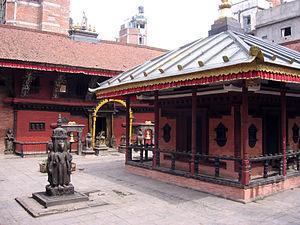 Bania (Newar caste) - Itum Bahal, Kathmandu. The surrounding area is a traditional Bania neighborhood.