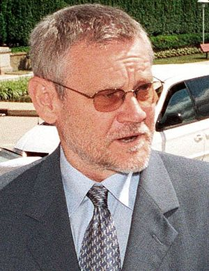 Ivica Račan - Ivica Račan at The Pentagon on June 7, 2002