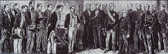 Iwakura Mission - The Iwakura mission visiting the French President Thiers on December 26, 1872.