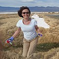 Iwona Jasser collecting water samples at Owens Lake, California.jpg