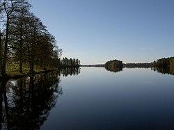 Jällunden set fra Jälluntofta mod syd.