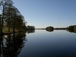 Sjön Jällunden, set fra Jällunda.
