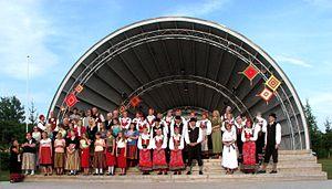 "Jööri - Performers of the local festival ""Jööri Folk"" in 2013."