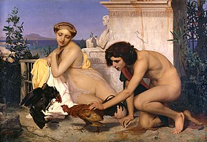 Jean-Léon Gérôme - The Cock Fight (1846); now in the Musée d'Orsay, Paris