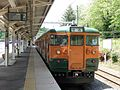 JRE 115-T1040 at Naganohara-Kusatsuguchi Station 20170528-2.jpg