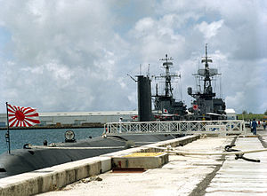 JS Arashio (SS-565), JS Tokachi (DE-218), and JS Ōi (DE-214) in Apra Harbor, -1 Apr. 1984 d.jpg
